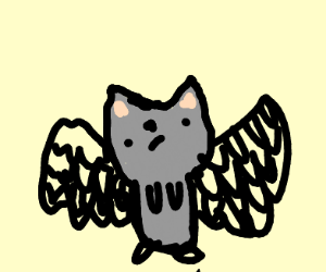 OwO No need to fear cat with wings is here :3