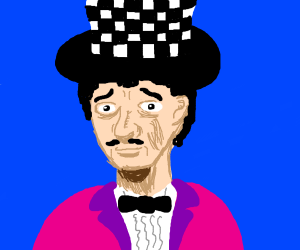 confused guy with stylish tophat