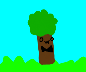 OwO tree with bowtie.