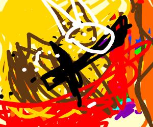 horse decapitating a unicorn