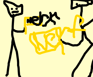 two guys with nerf guns
