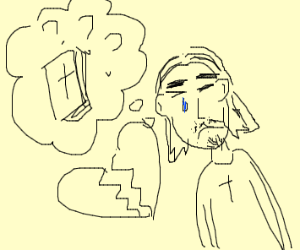 Jesus stressed because he lost his bible