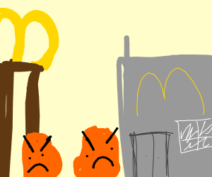 Angry Chicken Nuggets