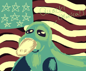 Seal-Duck Recruits people for 'murica army.