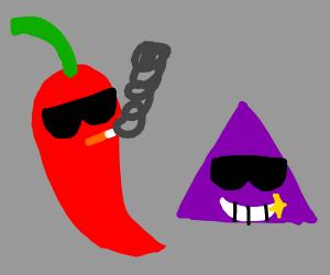 Smoking pepper & purple triangle chilling