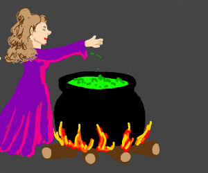 witch making a potion
