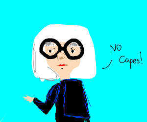 Edna Mode with white hair