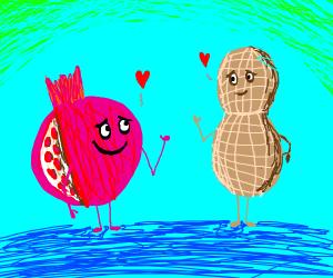 Peanut and pomegranate in love
