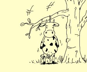 Cow hangs themself