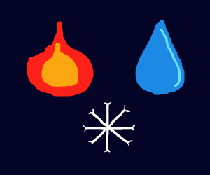Fire! Water! And snow!