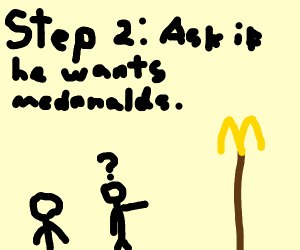 Step 1: Talk to the man