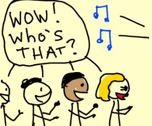 mystery singer has many fans