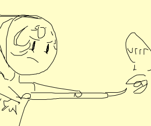 """pearl shooting a clam thats saying """"vrrr"""""""