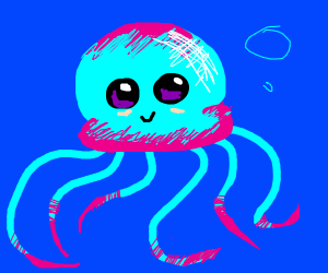 Pink and Blue Jellyfish