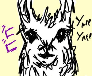 a llama but a jojo reference