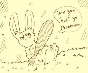 rabbit with baseball bat gon bust ur kneecaps