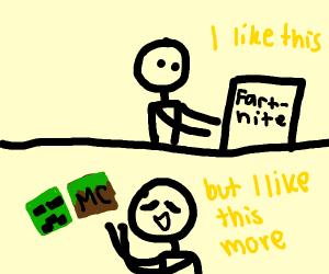 leaving fortnite for minecraft