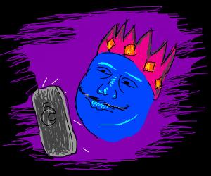 blue king texting