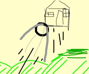 Sputnik picks up a house