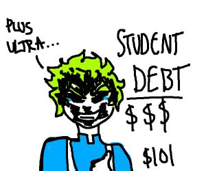 Deku (bnha) has $101 in student debt