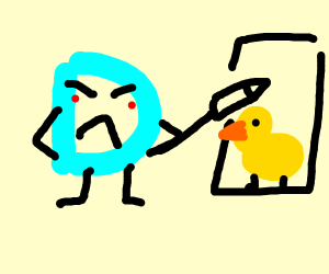Angry drawception draws a duck