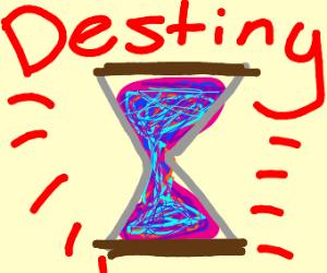 Magic hourglass of destiny