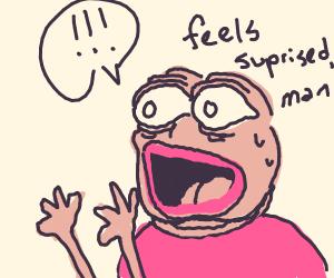 pink surprised pepe