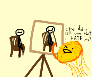 Jellyfish insults YOU while painting YOU