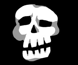 Confused skull