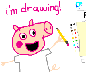 Peppa, What are you doing in Drawception?