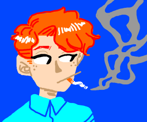 Precious good boye smoking >:C
