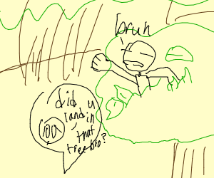 That 'Bruh' moment when you land in a tree