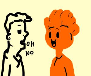man hates the colour orange