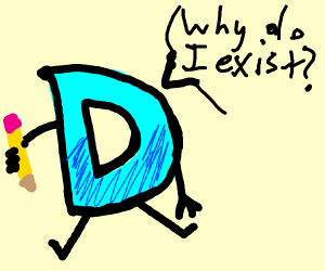 Drawception D questioning its existence