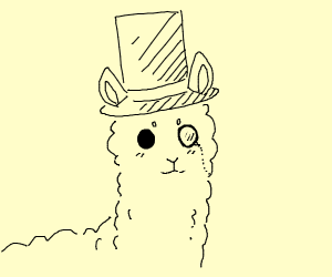 A fancy alpaca