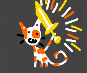 Cat with the Holy Sword of Light