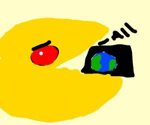 Evil PAC Man consumes all