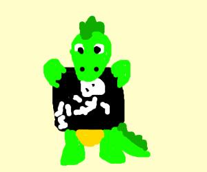 a crocodile pregnant with a boy