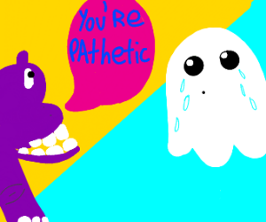 Hippo bullying ghost
