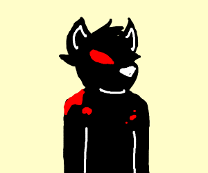 Bloody furry with horn(probably killed gamers