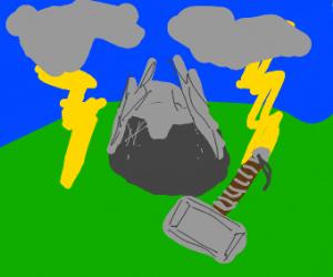 Thor as a rock