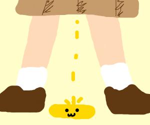 A smol pile of pee