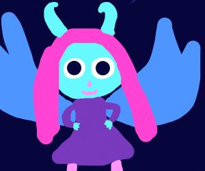 Horned fairy girl