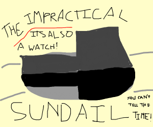 Sundial watch (very impractical!)