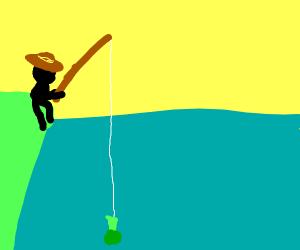 Fisherman Uses Broccoli as Bait