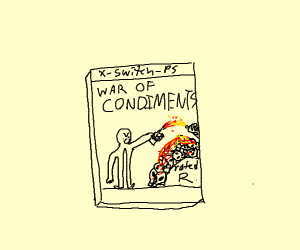 New r rated game: war of condiments