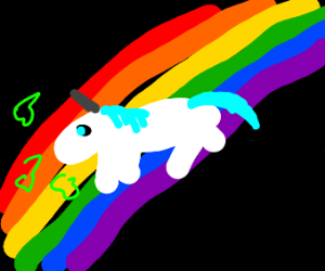 unicorn in rainbows burping