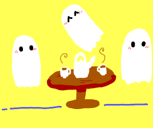 A ghost tea party