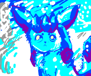 Glaceon on a snowy day