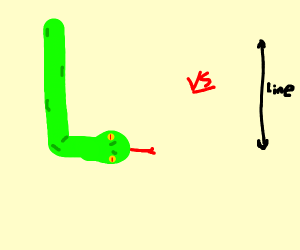snake vs. line
